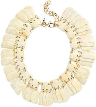 Lele Sadoughi Iris Petal Collar Necklace