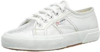 Superga Unisex Kids' 50 Lamej Low-Top Sneakers, (Silver), 11 Child UK EU