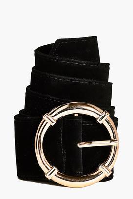 boohoo Macy Circle Suedette Boyfriend Belt