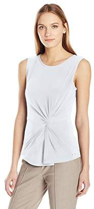 Calvin Klein Women's Matte Jersey Side Rouched Top