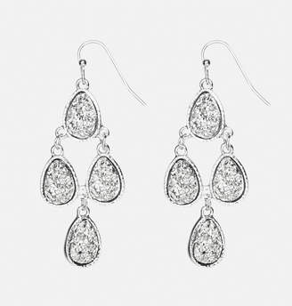 Avenue Textured Stone Chandelier Earrings