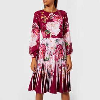 Ted Baker Women's Esperan Serenity Contrast Pleat Dress