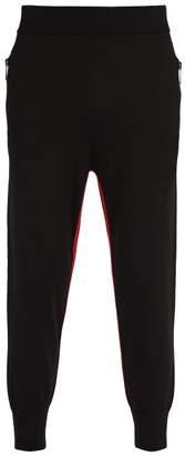 Neil Barrett Knitted Stripe Trousers - Mens - Black Red