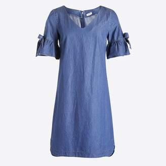 J.Crew Tie-sleeve dress in denim