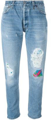 Levi's 'Hawaiian Patch' jeans $452.35 thestylecure.com
