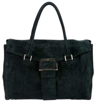 Roger Vivier Large Suede Tote