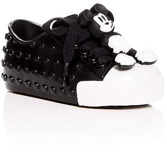Mini Melissa Girls' Mini Polibolha + Disney Lace Up Sneakers - Walker, Toddler