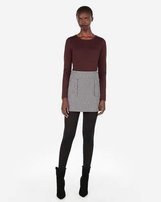 Express High Waisted Plaid Straight Mini Skirt