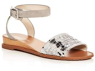 Kenneth Cole Women's Jinny Suede & Sequin Demi Wedge Sandals