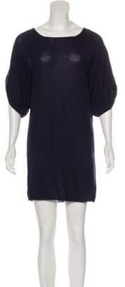 3.1 Phillip Lim Merino Wool Mini Dress Blue Merino Wool Mini Dress