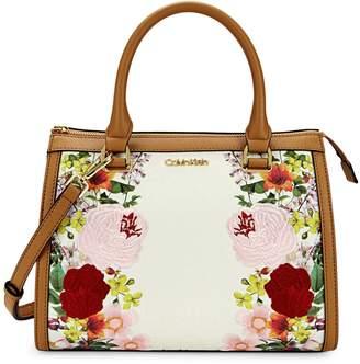 Calvin Klein Mercy Signature Monogram Floral Satchel