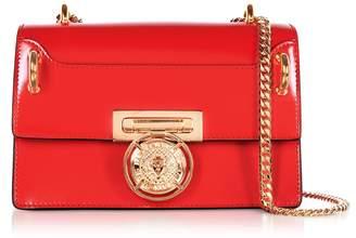 Balmain B.box 20 Red Glossy Leather Flap Bag
