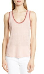 Rag & Bone Molly Tipped Slub Linen Tank