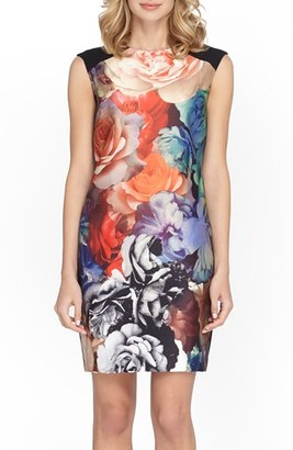 Women's Tahari Floral Jacquard Sheath Dress $138 thestylecure.com