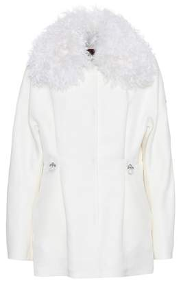 Moncler Gamme Rouge Fur-trimmed wool and silk jacket