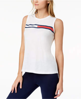 Tommy Hilfiger Sleeveless Logo T-Shirt, Created for Macy's