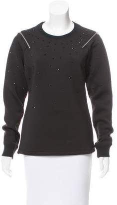 Hood by Air Embellished Long Sleeve Sweatshirt