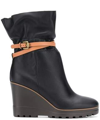See by Chloe belt wrap boots