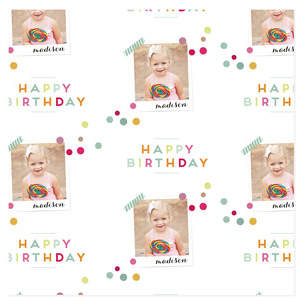 Birthday Snap Personalized Wrapping Paper