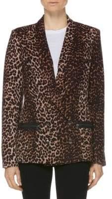 Paige Karissa Leopard Blazer