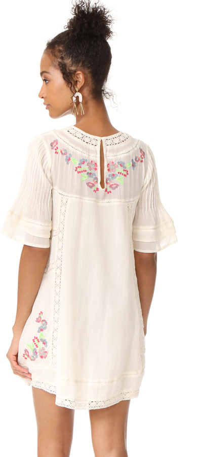 Free People Perfectly Victorian Embroidered Mini Dress 3