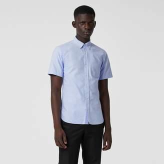 Burberry Short-sleeve Cotton Oxford Shirt