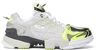 Vetements X Reebok Spike Runner 400 Mesh Trainers - Mens - Yellow