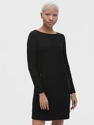 Gap Long Sleeve A-Line Dress with Zip-Pockets