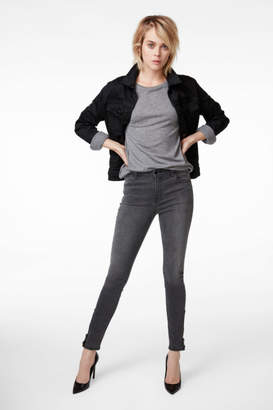 J Brand Maria High-Rise Super Skinny With Ankle Zippers In Photo Ready Nocturnal Grey