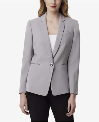 Tahari ASL Pebble Crepe One-Button Jacket