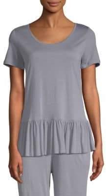 Hanro Malva Short-Sleeve Flounce Top