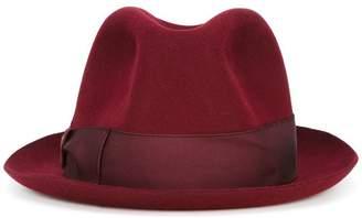 Borsalino grosgrain band trilby hat