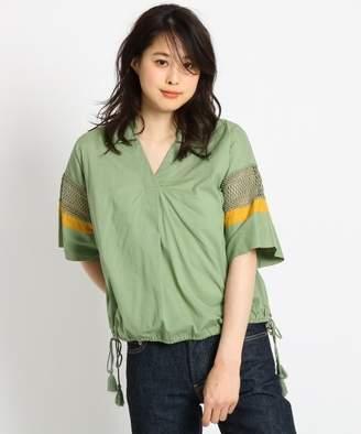 Dessin (デッサン) - Dessin 【洗える】インド刺しゅうレーススリーブシャツ