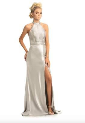 Johnathan Kayne Metallic Silver Gown