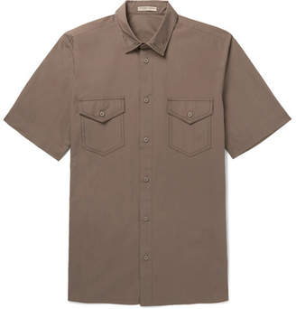Bottega Veneta Garment-Dyed Cotton-Poplin Shirt