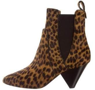 Veronica Beard Landon Ponyhair Ankle Boots w/ Tags