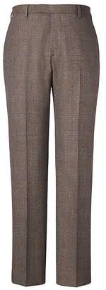 Banana Republic Slim Brown Plaid Italian Wool Suit Trouser