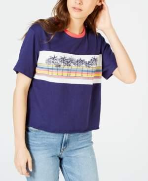 Rebellious One Juniors' Palm-Tree T-Shirt