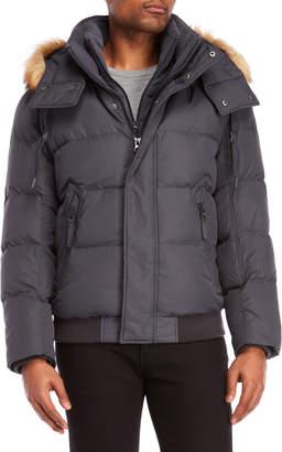 Andrew Marc Clermont Faux Fur Trim Down Coat
