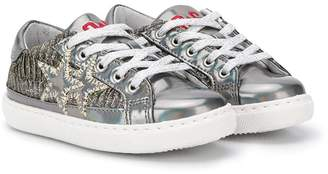 Star Kids 2 metallic lace-up sneakers