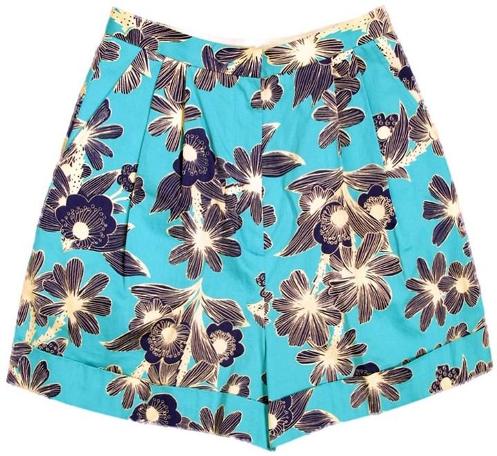 Karen Walker Hawaiian Cuff Shorts