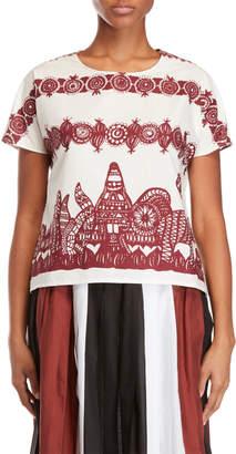 Alysi Printed Short Sleeve Top