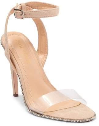 Chase & Chloe Gigi Clear Imitation Pearl Stiletto Sandal