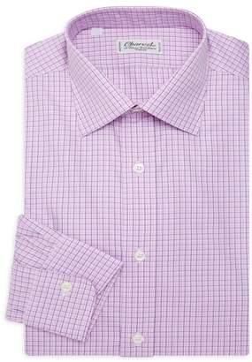 Charvet Contemporary Fit Check Dress Shirt