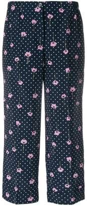 Miu Miu flower print trousers