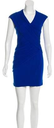 Donna Karan V-Neck Mini Dress