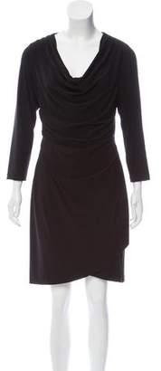 T Tahari Ruched Long Sleeve Dress
