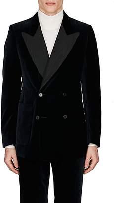 Dries Van Noten Men's Velvet Double-Breasted Tuxedo Jacket