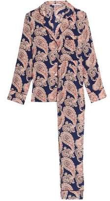 Stella McCartney Poppy Snoozing Floral-Print Stretch-Silk Crepe De Chine Pajama Set