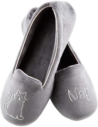 Isotoner Signature Women Velour Conversational Slippers with Memory Foam
